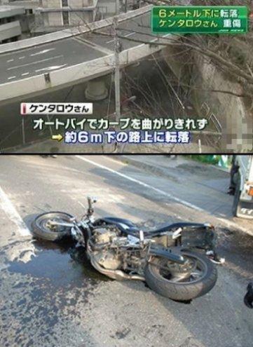 ケンタロウ バイク事故에 대한 이미지 검색결과