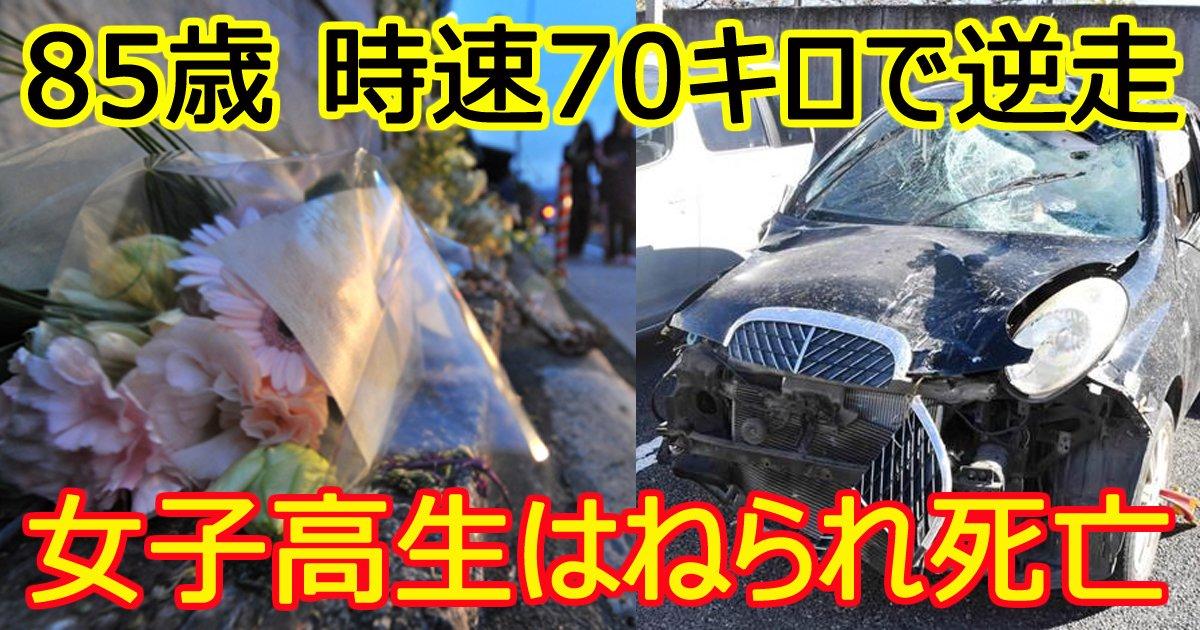 koureidriver - 85歳運転の車が逆走!高1女子がはねられ死亡