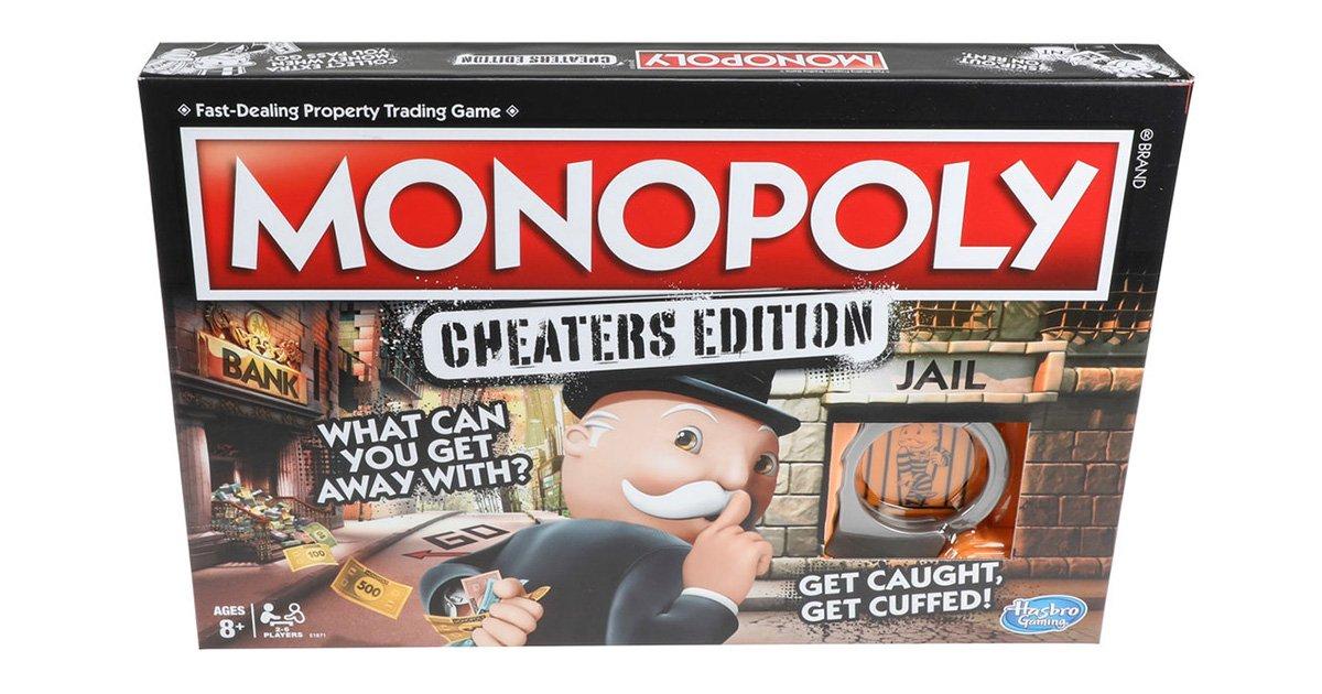 mainphoto monopoly.jpeg?resize=1200,630 - Monopoly célèbre le tricheur qui est en vous avec cette édition spéciale!