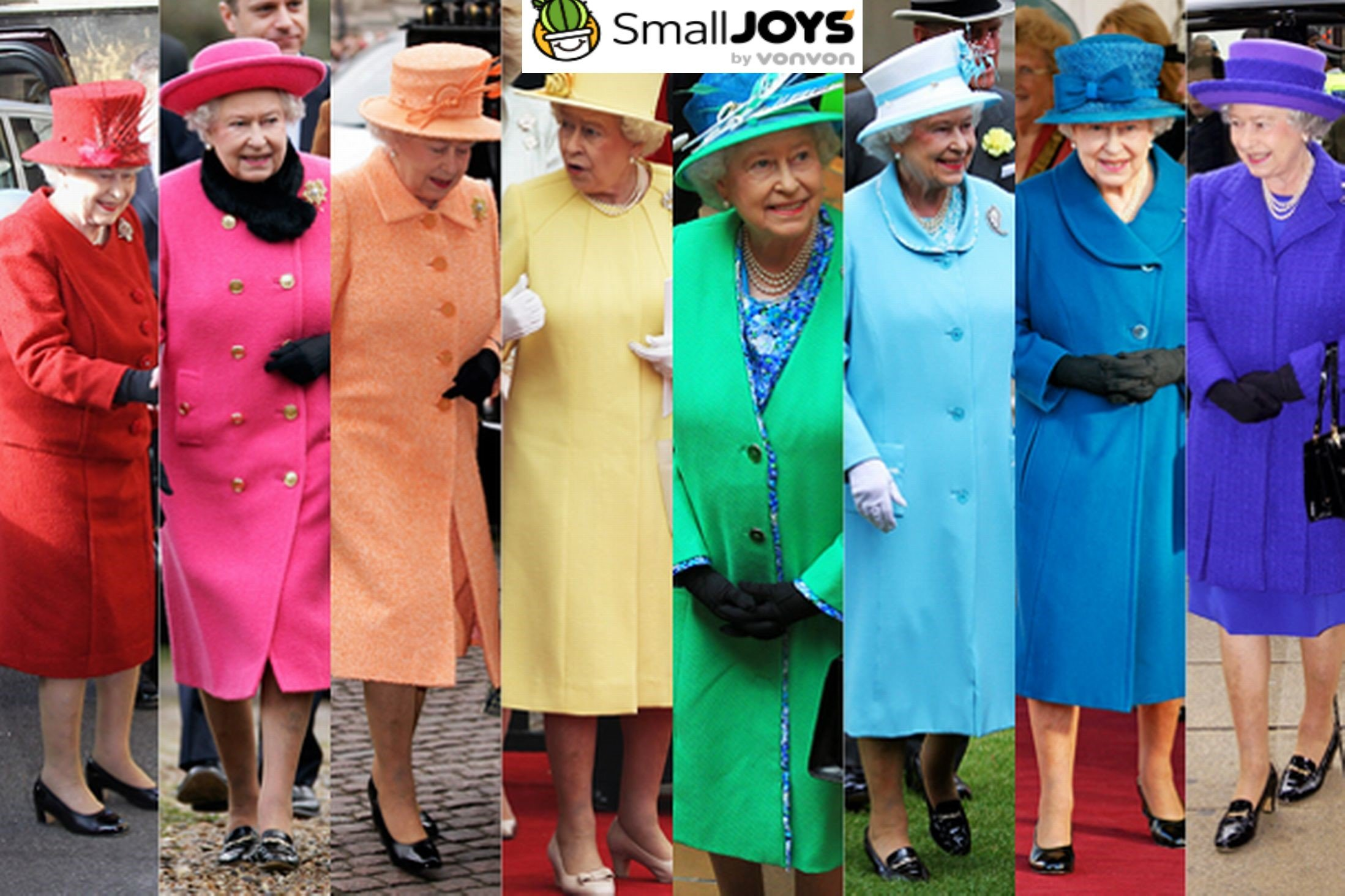 rainbow queen elizabeth - Queen Elizabeth Wears Bright Outfits So That Her Fans Can Say They 'Saw' Her