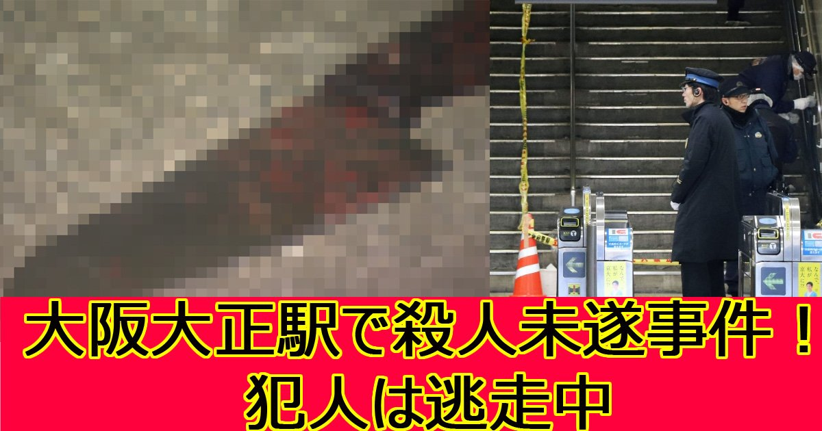 taisyoueki - 大阪JR大正駅で男性刺される…犯人は逃走中