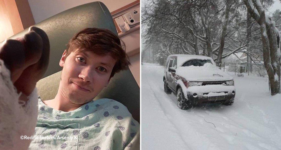 template coverpie - Por no pagar un motel decidió dormir en su auto bajo una intensa nevada, al día siguiente tuvieron que amputarle las piernas