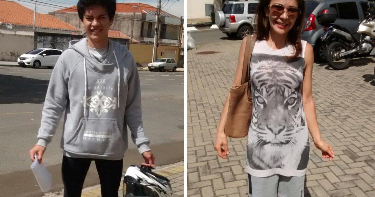 thumbnail5gce - Garoto usa a roupa da mãe para não perder exame de habilitação