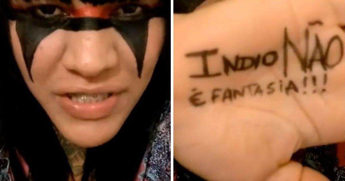 thumbnail5gcv.png?resize=648,365 - Ativista diz que usar fantasia de índio não é homenagem e sim racismo
