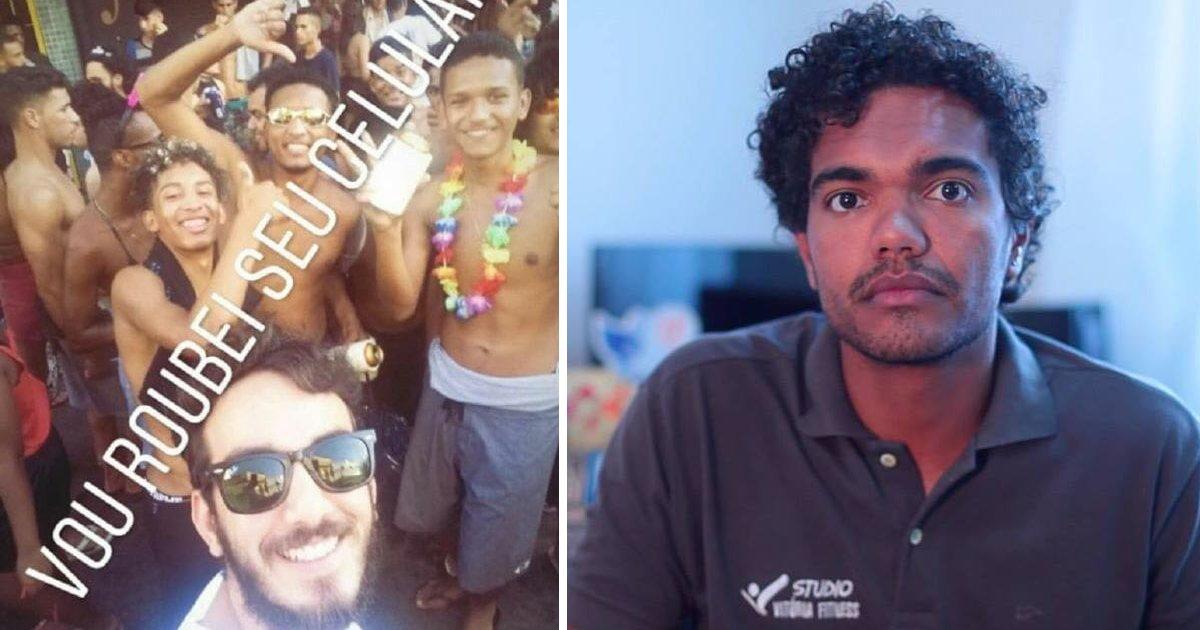 thumbnail5gibse.png?resize=1200,630 - Jovem é demitido após postar selfie racista durante o carnaval