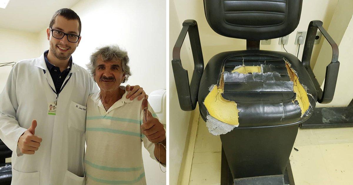thumbnail5grb - Paciente de hospital decide consertar as cadeiras velhas do local para dar mais conforto aos outros pacientes