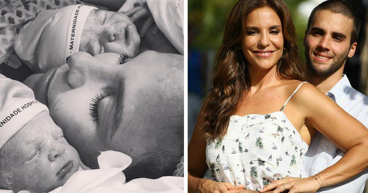 thumbnail5guu - Ivete comemora o nascimento das filhas com bonita mensagem e o maridão pede moderação nas visitas ao hospital