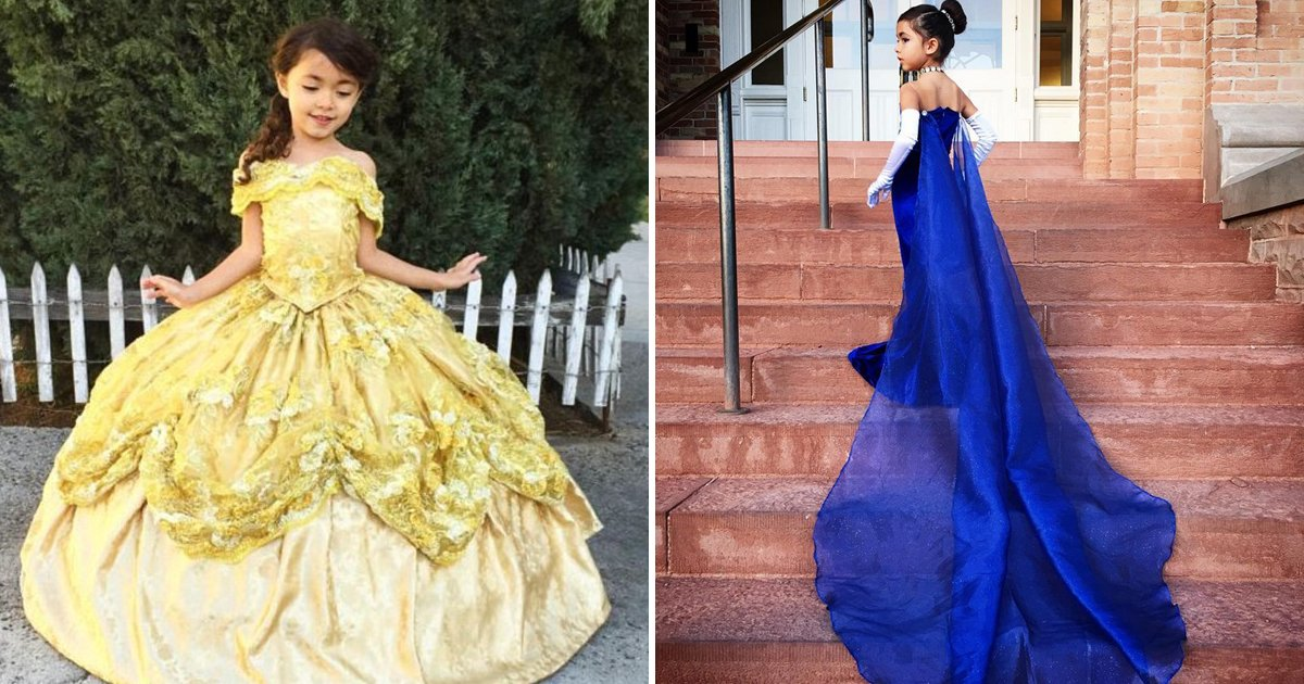 untitled 1 5 - Dad Makes Disney Dress For Daughter That Transforms Into Another Dress By Release Of A Ribbon