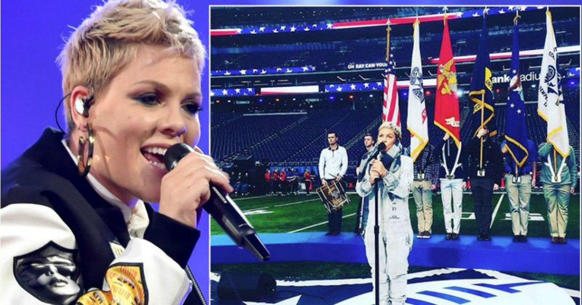 untitled 33.jpg?resize=648,365 - Pink Struggles To Get Voice Back As She Fights Influenza One Day Prior To Super Bowl Anthem Performance