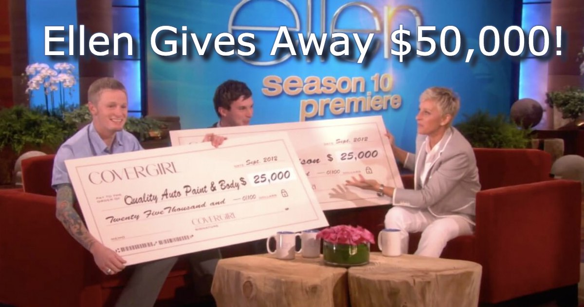 untitled 40.jpg?resize=648,365 - Ellen Gives Away $50,000 To A Gay Collge Student And A Mechanic!