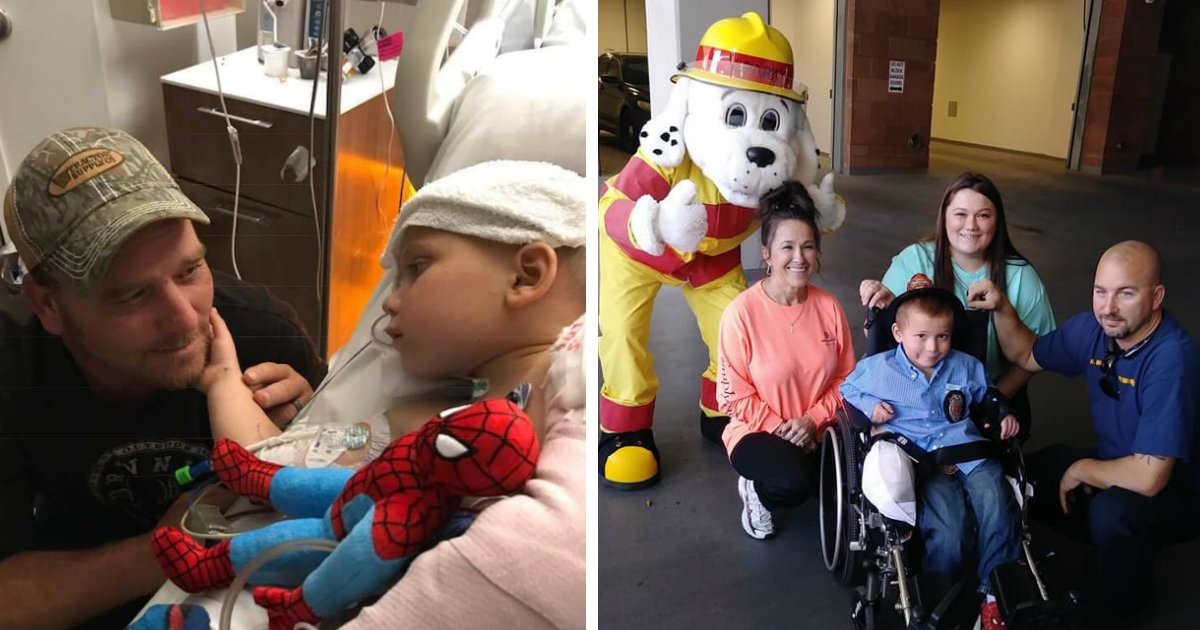 untitled 6 - Firefighter Saves 6-Year-Old Boy From Devin Kelly Case And Gives Him Special Fire Truck Ride On His Way Back Home From Hospital