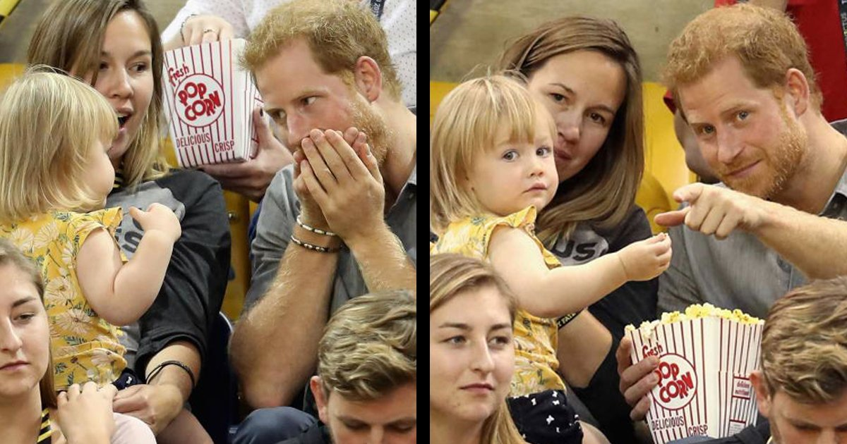 untitled copy 1 - Toddler Continues To Steal Prince Harry's Popcorn Until He Realizes It, Her Reaction Tells It All
