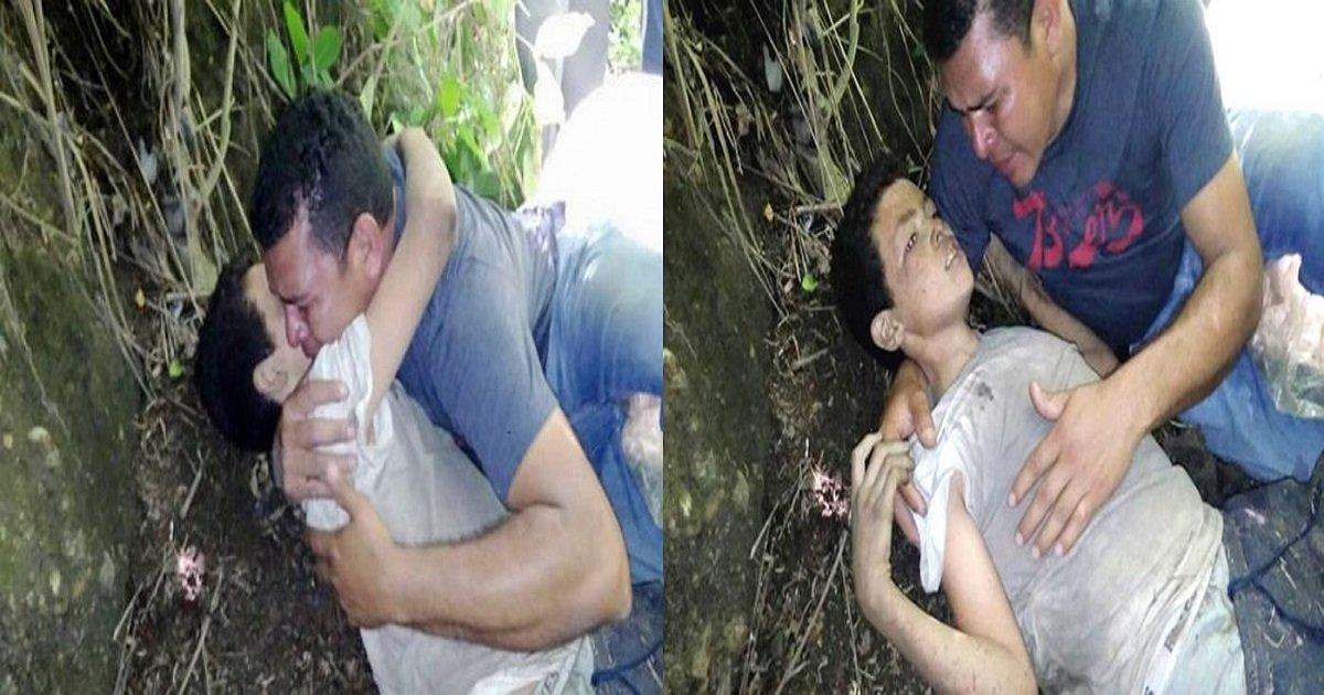 w1 horz.jpg?resize=1200,630 - 폭력배에게 납치돼 의식 잃은 채 발견 된 아들 끌어안고 오열하는 아빠