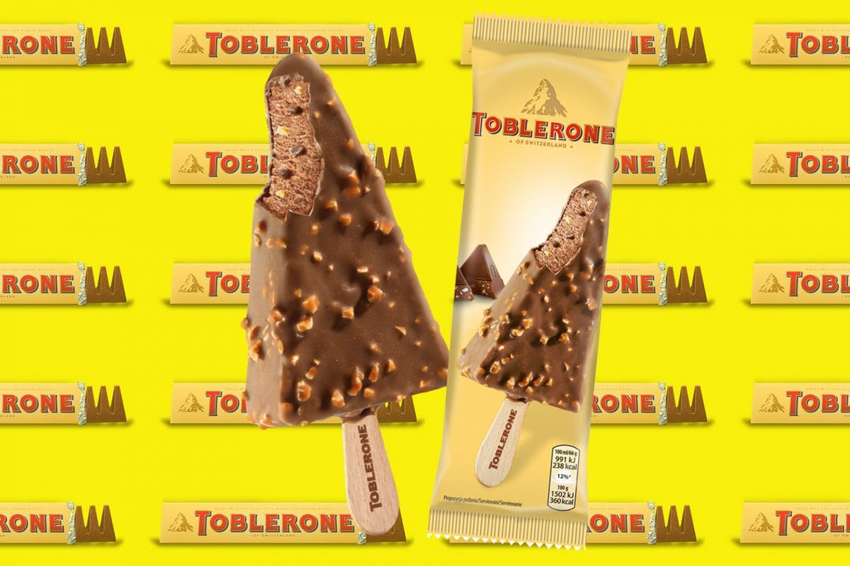 you can now buy toblerone ice cream and its weird that this never existed before crop 1519034244 1800x1200.jpg?resize=412,232 - Toblerone acaba de virar picolé!