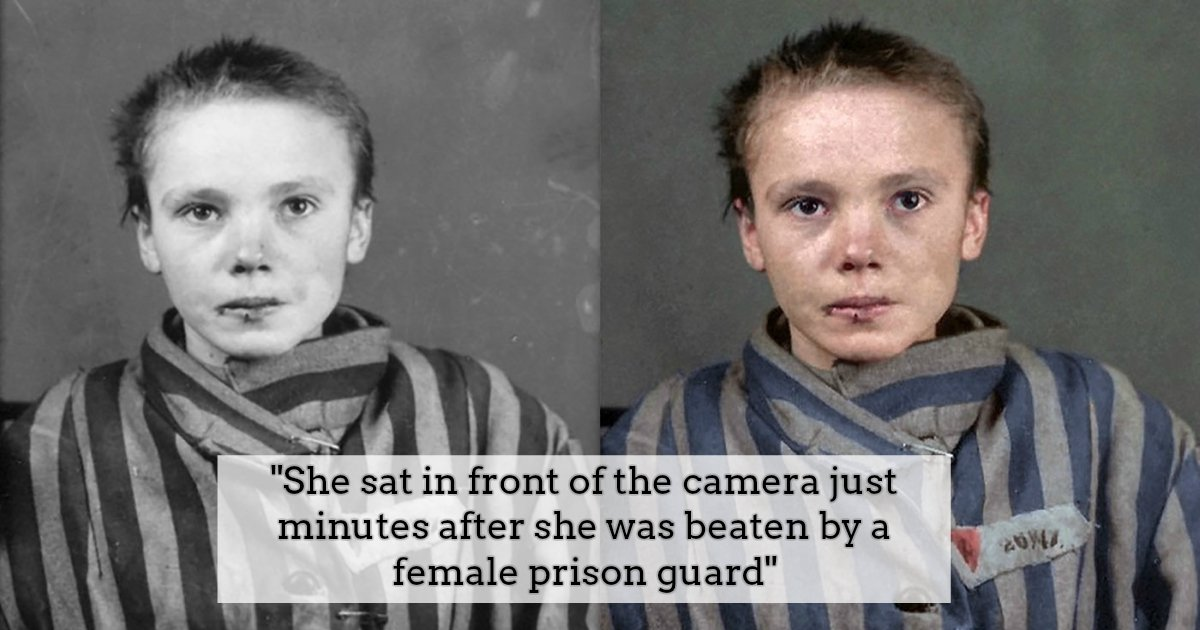 1 279.jpg?resize=636,358 - Colorized Pictures Of A 14-Year-Old Polish Prisoner In Auschwitz Are Released To The Public And The Pictures Will Leave You In Tears