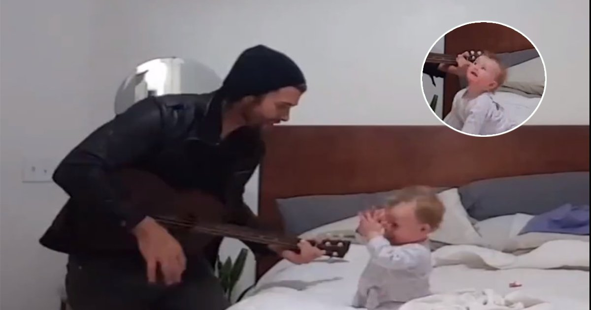1ec8db8eb84ac - Father Sings To His Little Girl, and Her Expressions Are Just So Adorable (Video)
