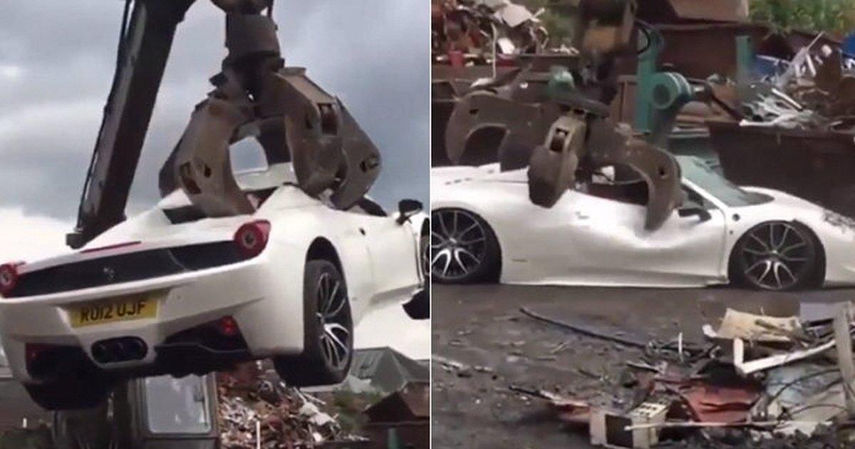 3ai3c3o0b3t1p6960z91 - Homem está se preparando para processar a polícia por destruir sua Ferrari sob falsa acusação
