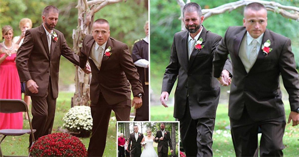 4ec8db8eb84ac 6.jpg?resize=1200,630 - La mariée et ses deux papas créent l'émotion à son mariage