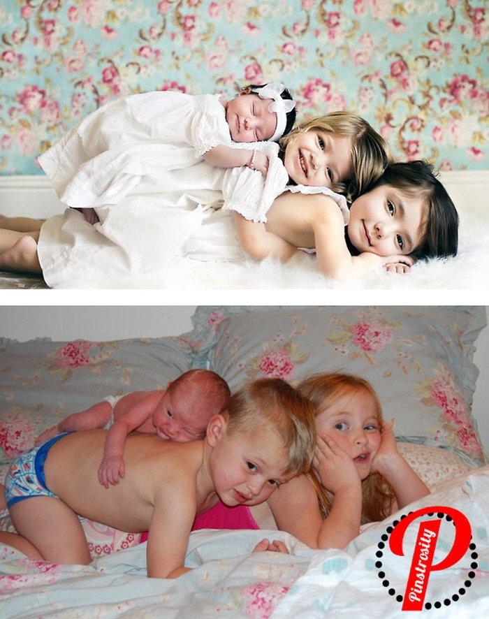 """9 15 - """"성공vs실패"""" 부모님의 노력이 느껴지는 아기와 함께 찍은 사진 15장"""