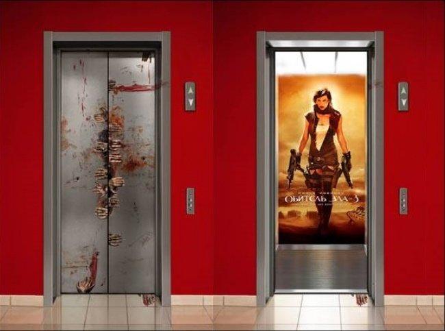 3956560 residentevilpublicidad 1518430831 650 180858d84d 1519920638 - 15 increíbles y creativos anuncios publicitarios colocados en ascensores que te sorprenderán
