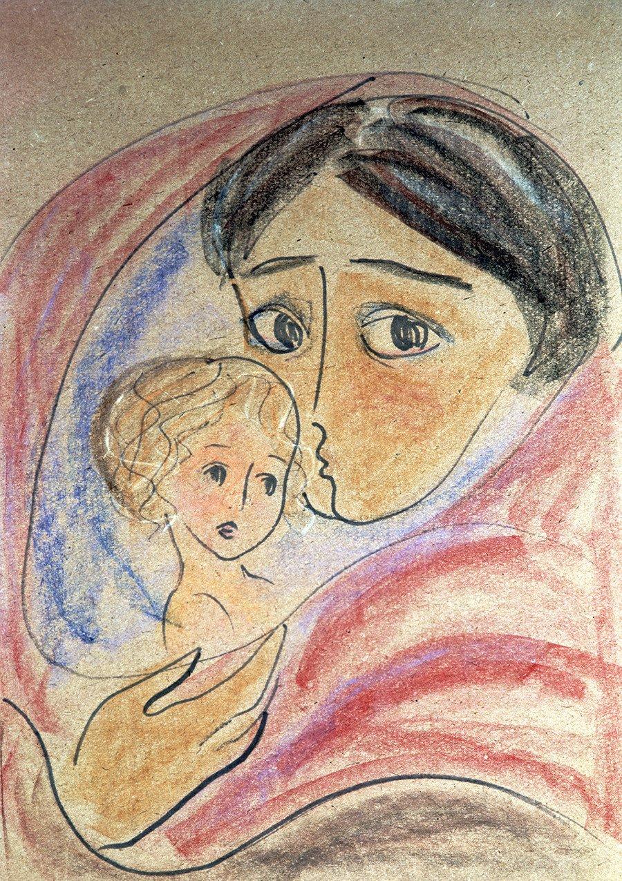 """""""As mães do mundo pela paz"""", por Nádia Rucheva."""