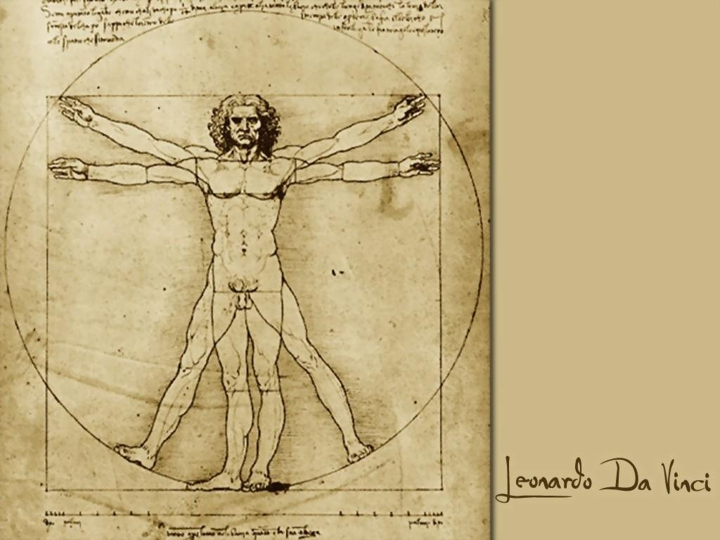 EL HOMBRE DE VITRUVIO. El hombre perfecto de Leonardo Da Vinci.