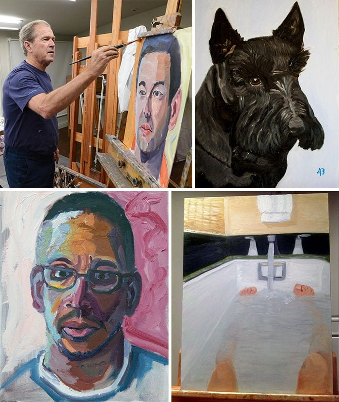 aV3YOY2 700b - ¿Podías imaginarte que estas celebridades sabían pintar? Aquí te mostraremos sus increíbles obras.