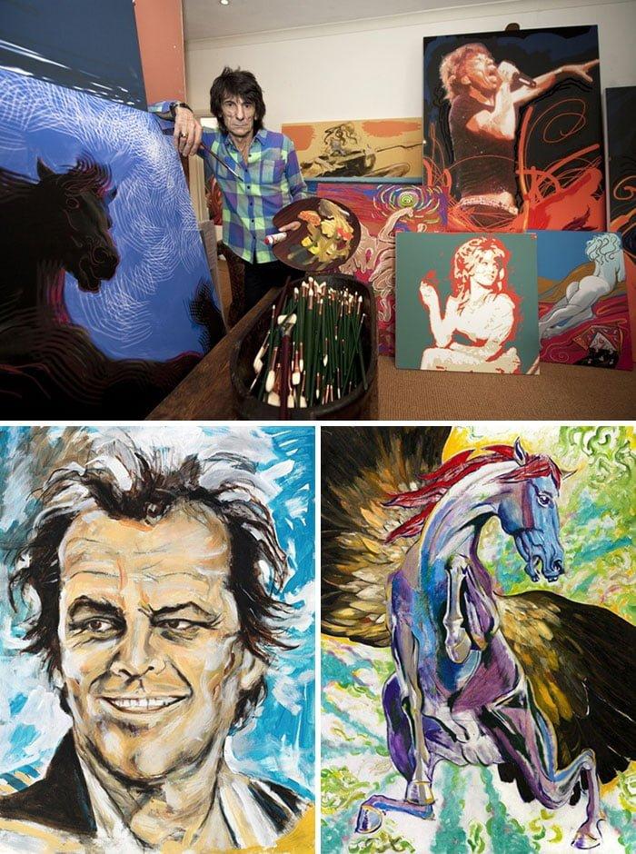 aV3YOYy 700b - ¿Podías imaginarte que estas celebridades sabían pintar? Aquí te mostraremos sus increíbles obras.