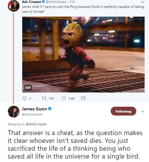 aec55fba d716 49bd 868f 68ea366757fa - James Gunn Shocked Fans When He Revealed That Groot Is Dead And That Baby Groot Is His Son