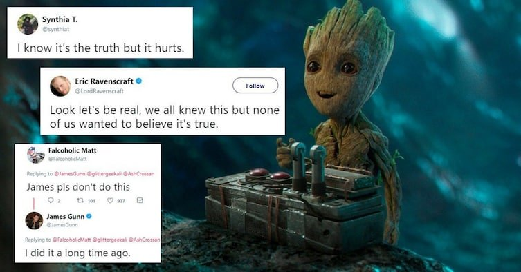 f5c354f8 7d7f 4dab 807c 4ffcd7a671f9 - James Gunn Shocked Fans When He Revealed That Groot Is Dead And That Baby Groot Is His Son