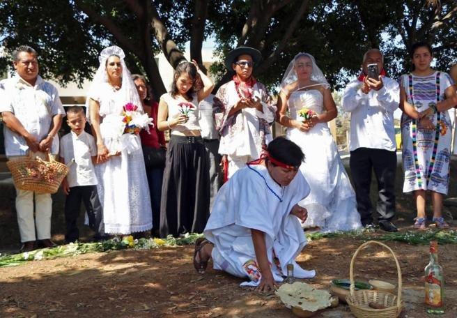 La ceremonia está basada en las costumbres de la tradición Inca