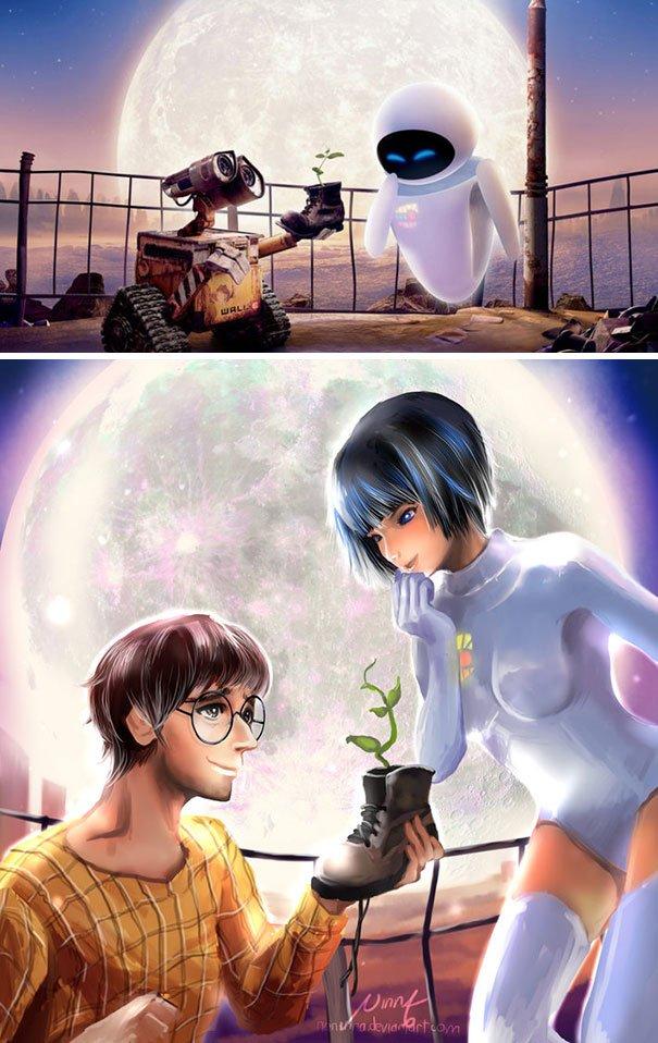 Wall-E And Eve Humanization