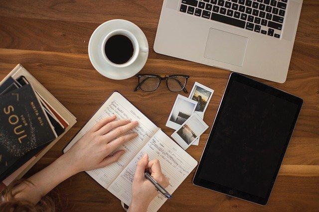 사람들, 쓰다, 수첩, 일기, 페이지, 시트, 일, 사무실, 펜, 폴라로이드, 사진, 사진술, 블랙