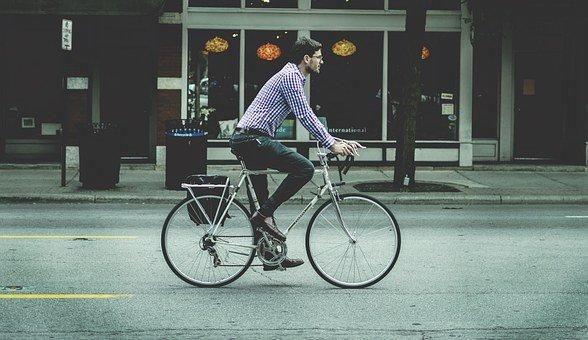 사람, 남자, 남성, 통 학, 자전거, 사업, 라이프 스타일, 사이클링