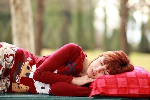 수 면, 베, 몽유병, 초상화, 사진, Sleep, 아름 다운, 현대