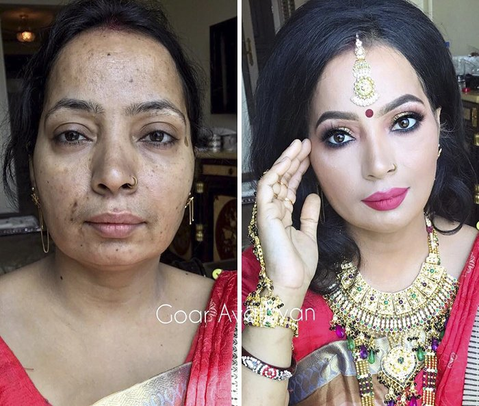 women make up transformation goar avetisyan 1 5a97b579a5d06  700 - These 30 Examples Show How Skillful Makeup Worked Some Amazing Magic On These Women