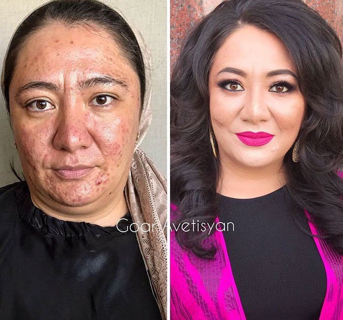 women make up transformation goar avetisyan 12 5a97b4ccca9e8  700 - These 30 Examples Show How Skillful Makeup Worked Some Amazing Magic On These Women