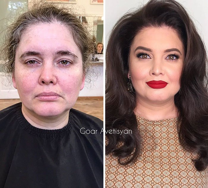 women make up transformation goar avetisyan 13 5a97b504af316  700 - These 30 Examples Show How Skillful Makeup Worked Some Amazing Magic On These Women