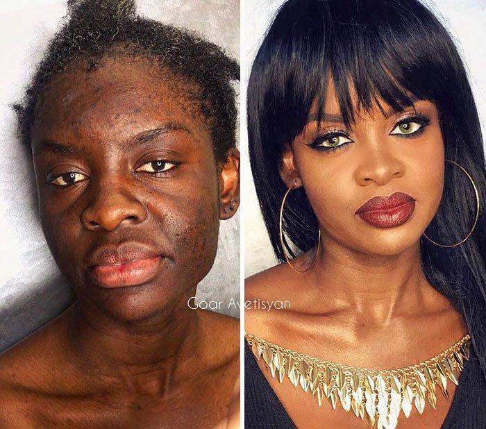women make up transformation goar avetisyan 18 5a97b63771081  700 - 30 fotos de transformações mágicas causadas apenas por maquiagem