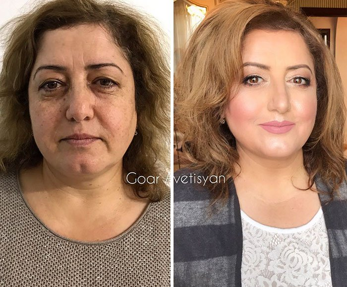 women make up transformation goar avetisyan 21 5a97b64103cc0  700 - These 30 Examples Show How Skillful Makeup Worked Some Amazing Magic On These Women