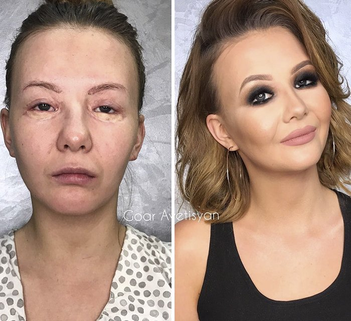 women make up transformation goar avetisyan 23 5a97b4e06dc24  700 - These 30 Examples Show How Skillful Makeup Worked Some Amazing Magic On These Women