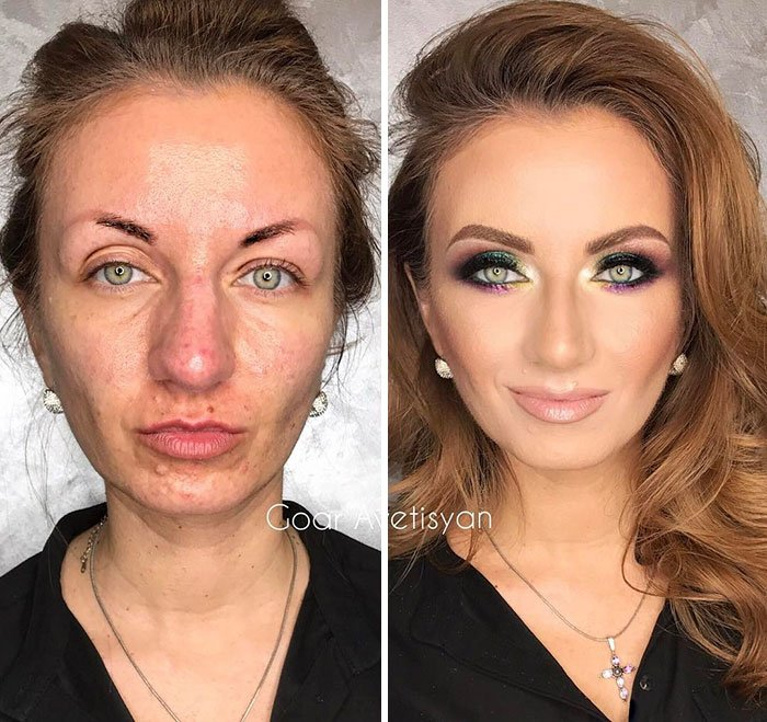Make Up Transformation On Oily Skin