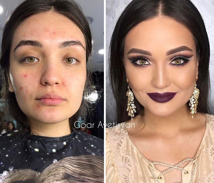 women make up transformation goar avetisyan 26 5a97b5da501ce  700 - These 30 Examples Show How Skillful Makeup Worked Some Amazing Magic On These Women