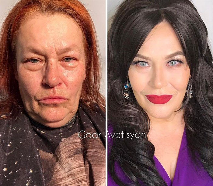 Irina Got All Her Wrinkles Reduced With Make Up So Much, They
