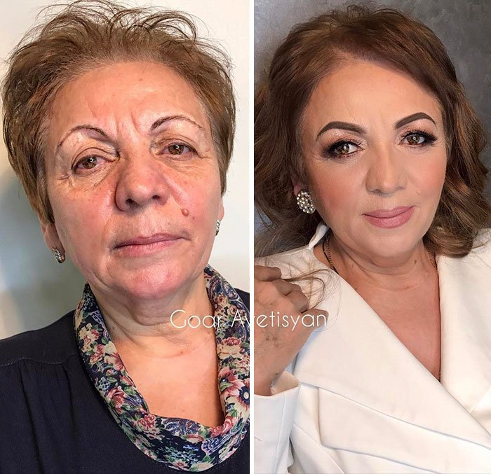 women make up transformation goar avetisyan 28 5a97b651623cb  700 - These 30 Examples Show How Skillful Makeup Worked Some Amazing Magic On These Women