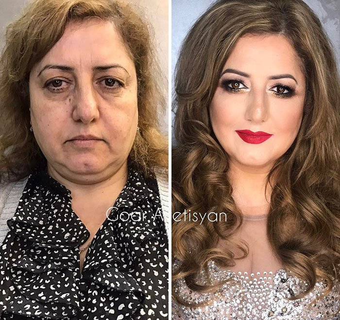 women make up transformation goar avetisyan 34 5a97b66ccf10a  700 - These 30 Examples Show How Skillful Makeup Worked Some Amazing Magic On These Women