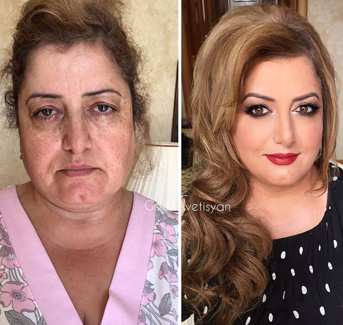 women make up transformation goar avetisyan 40 5a97b6777d98d  700 - These 30 Examples Show How Skillful Makeup Worked Some Amazing Magic On These Women
