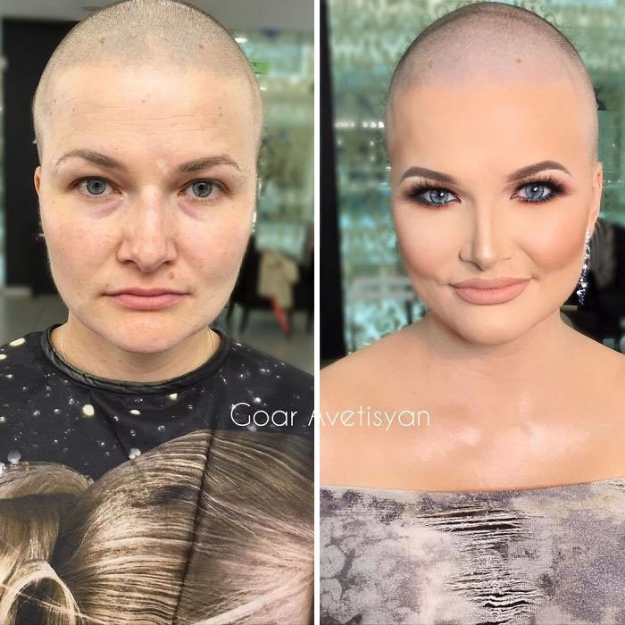 women make up transformation goar avetisyan 43 5a97bb75a2b79  700 - These 30 Examples Show How Skillful Makeup Worked Some Amazing Magic On These Women
