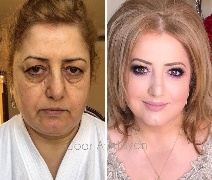 women make up transformation goar avetisyan 5 5a97b6242eaac  700 - These 30 Examples Show How Skillful Makeup Worked Some Amazing Magic On These Women