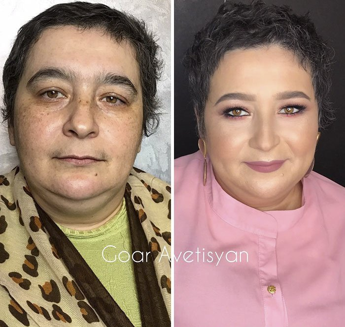Marina Is Fighting Breast Cancer. Goar Decided To Support Her With This Transformation And Give Positive Emotions